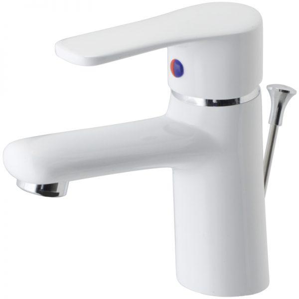 Vòi lavabo sơn trắng CAESAR B430CPW