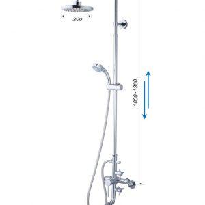 Bộ vòi sen đứng nóng lạnh CAESAR S488C